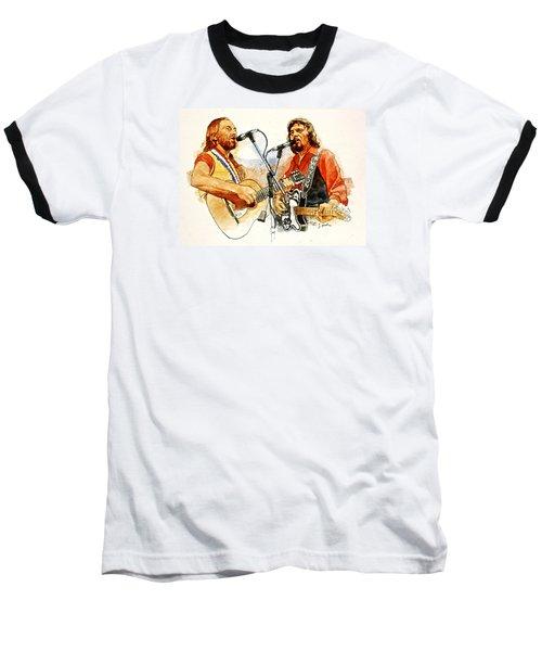 Its Country - 7  Waylon Jennings Willie Nelson Baseball T-Shirt