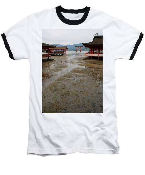 Itsukushima Shrine And Torii Gate Baseball T-Shirt