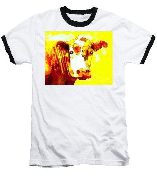Yellow Cow Baseball T-Shirt