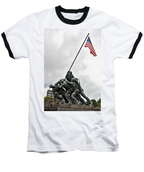 Iwo Jima Memorial Baseball T-Shirt