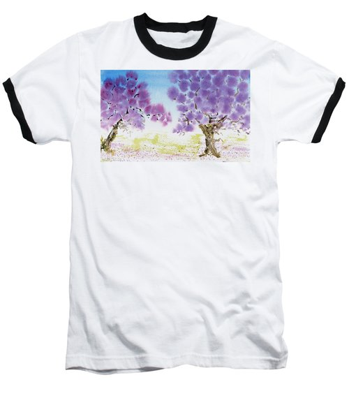 Jacaranda Trees Blooming In Buenos Aires, Argentina Baseball T-Shirt