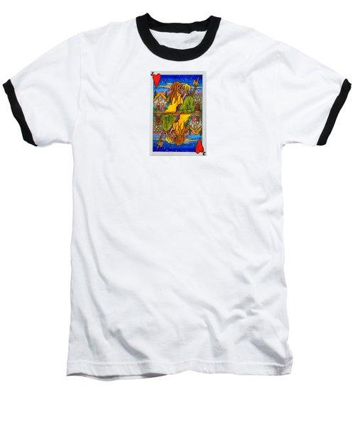 Jack Of Hearts Baseball T-Shirt by Matt Konar