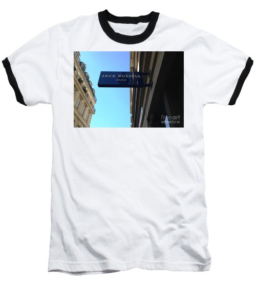 Baseball T-Shirt featuring the photograph Jack Russell Paris by Therese Alcorn