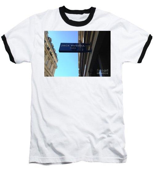 Jack Russell Paris Baseball T-Shirt
