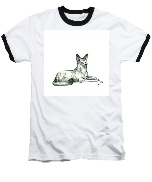 Jackal Sketch Baseball T-Shirt