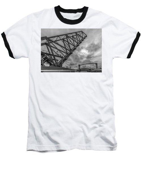 Jackknife Bridge To The Clouds B And W Baseball T-Shirt