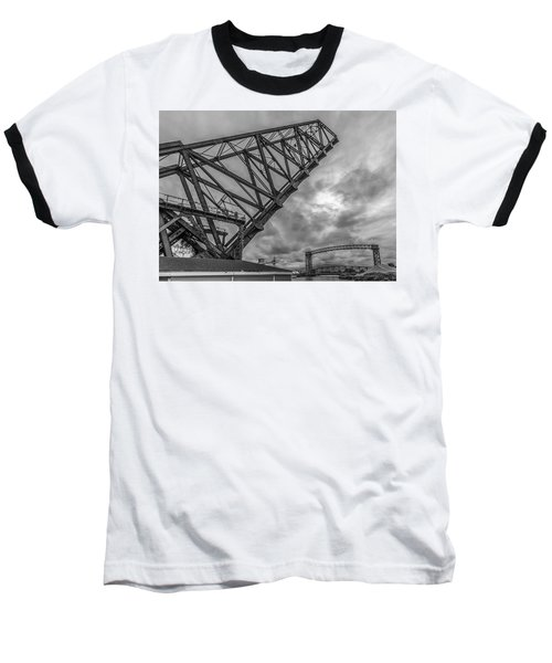 Jackknife Bridge To The Clouds B And W Baseball T-Shirt