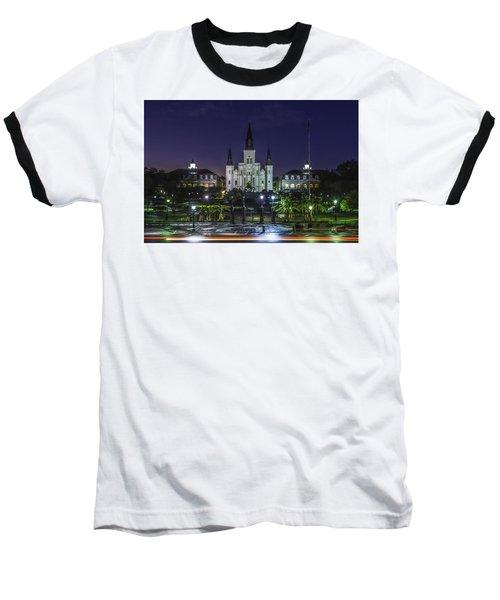 Jackson Square And St. Louis Cathedral At Dawn, New Orleans, Louisiana Baseball T-Shirt
