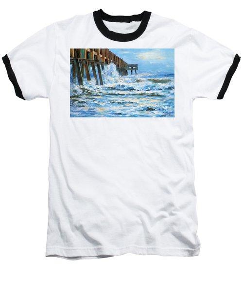 Jacksonville Beach Pier Baseball T-Shirt