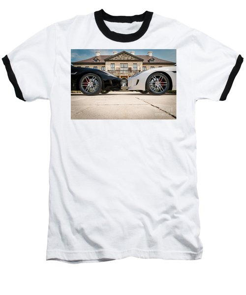 Jaguar F-type - Black And White Baseball T-Shirt