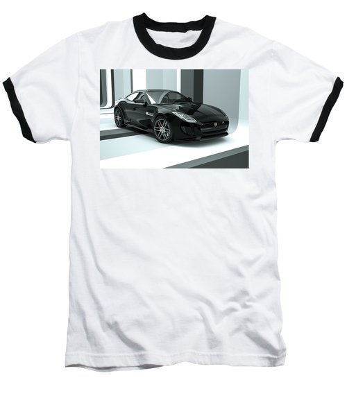 Jaguar F-type - Black Retro Baseball T-Shirt