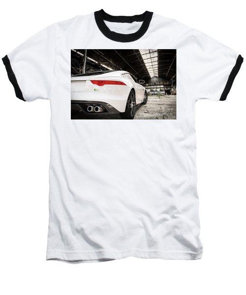Jaguar F-type - White - Rear Close-up Baseball T-Shirt