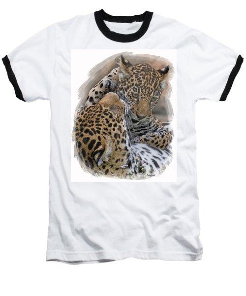 Jaguar Mother And Cub 4 Baseball T-Shirt