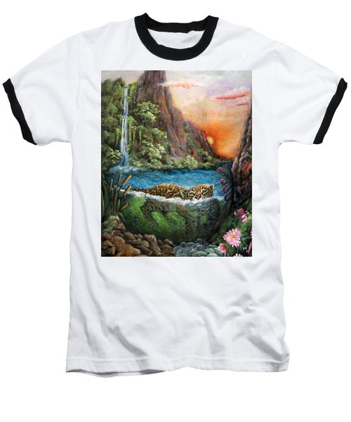 Jaguar Sunset  Baseball T-Shirt