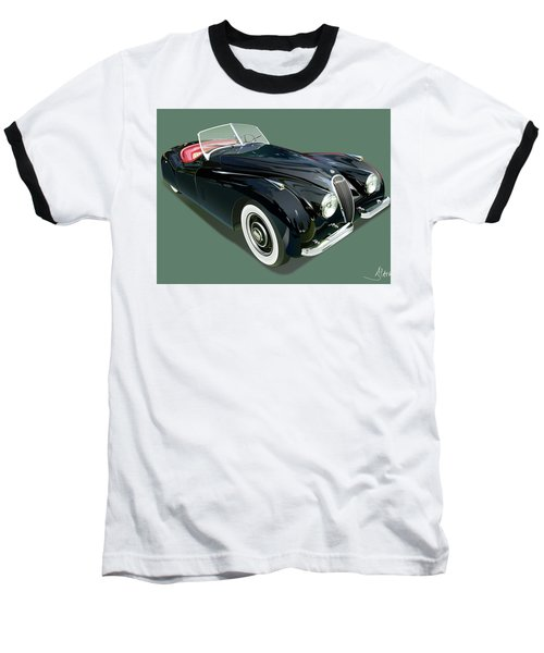 Jaguar Xk 120 Illustration Baseball T-Shirt