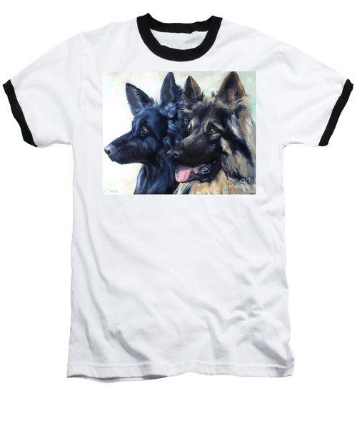 Jake And Shiloh Baseball T-Shirt by Diane Daigle