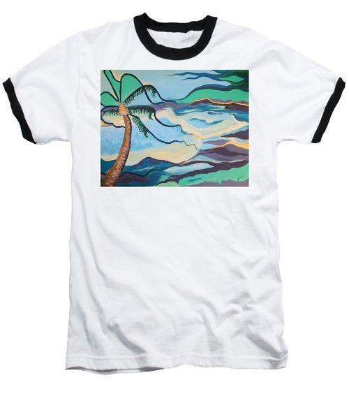 Jamaican Sea Breeze Baseball T-Shirt by Jan Steinle