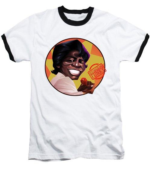 James Brown Baseball T-Shirt by Nelson Dedos Garcia
