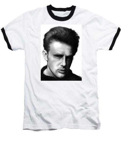James Dean Baseball T-Shirt by Greg Joens
