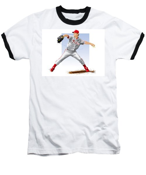Jamie Moyer Baseball T-Shirt by Scott Weigner