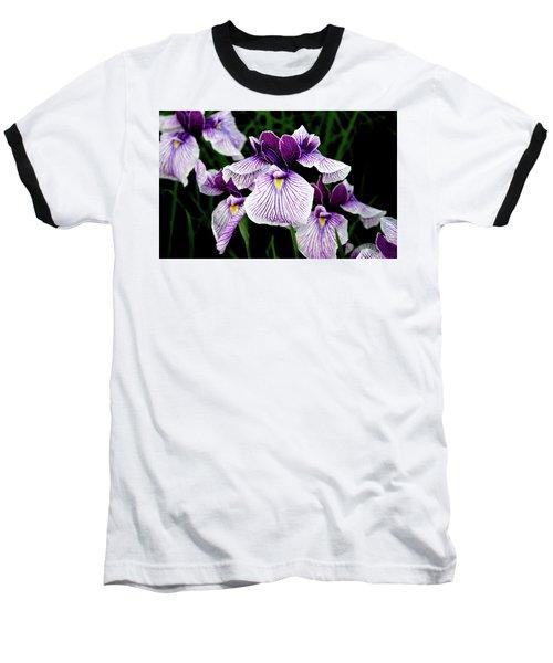Japanese Water Iris In Purple 2714 H_2 Baseball T-Shirt