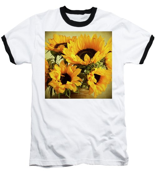 Jar Of Sunflowers Baseball T-Shirt