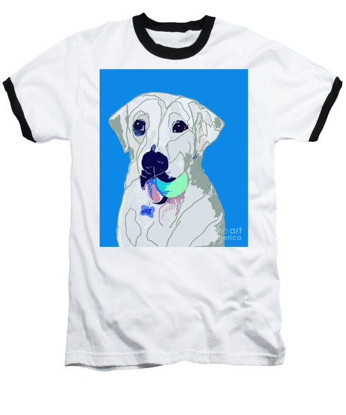 Jax With Ball In Blue Baseball T-Shirt