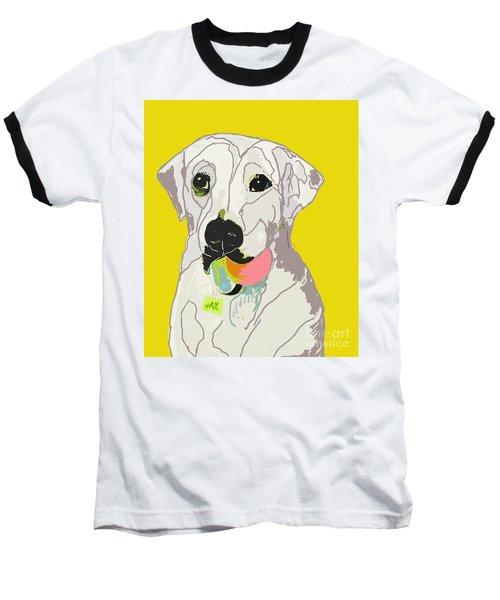 Jax With Ball In Yellow Baseball T-Shirt