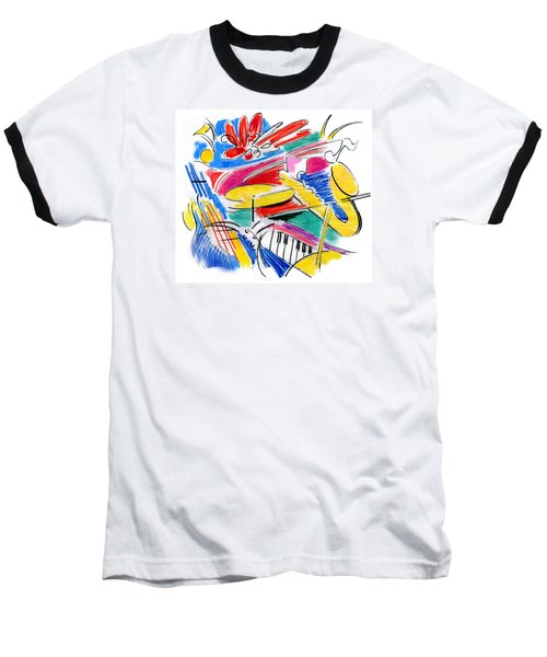 Jazz Art Baseball T-Shirt