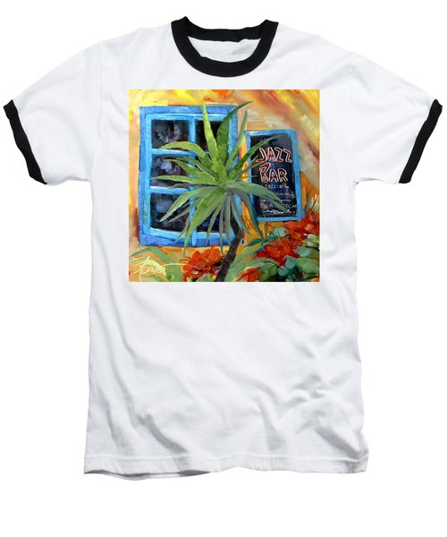 Jazz Bar In Santorini Baseball T-Shirt
