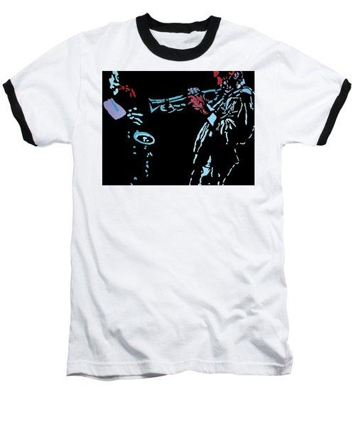 Jazz Duo Baseball T-Shirt by Angelo Thomas