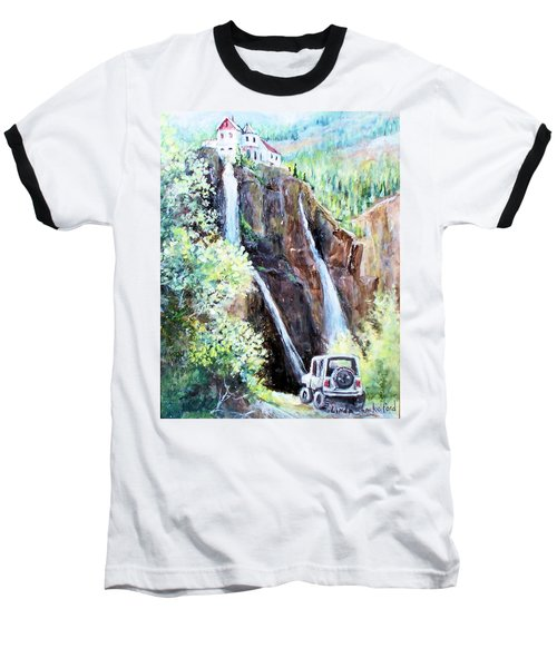 Jeeping At Bridal Falls  Baseball T-Shirt by Linda Shackelford