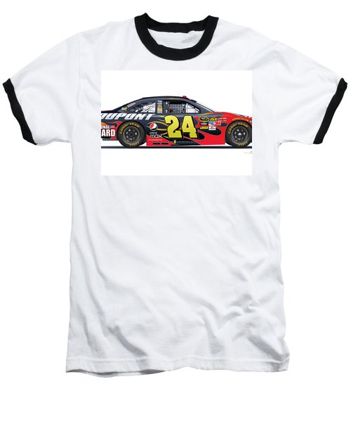 Jeff Gordon Nascar Image Baseball T-Shirt
