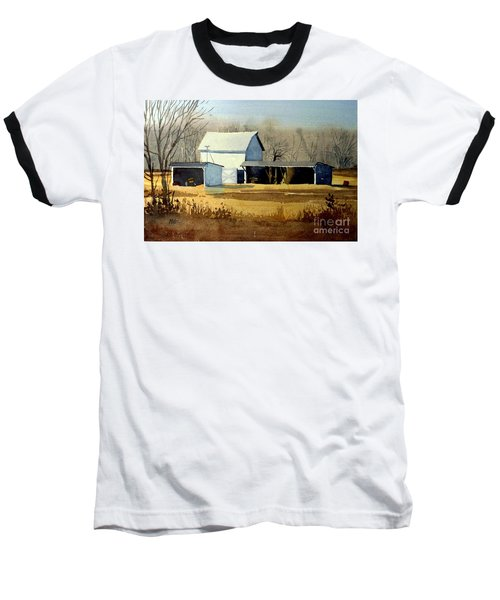Jersey Farm Baseball T-Shirt by Donald Maier