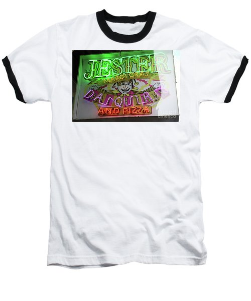 Jester Mardi Gras Sign Baseball T-Shirt