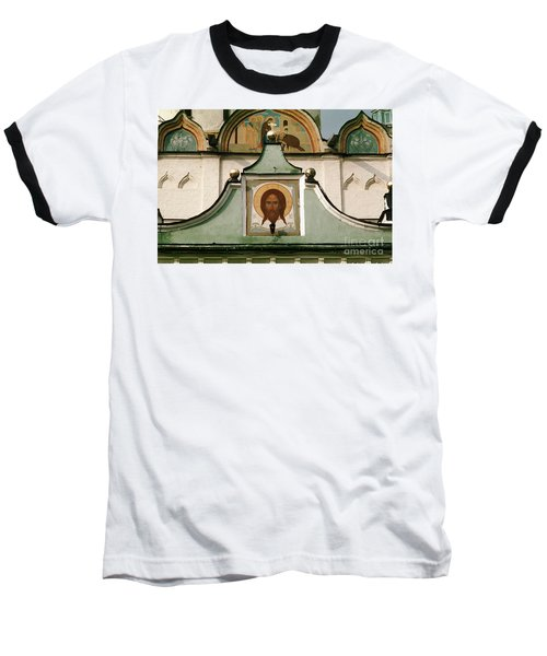 Jesus Icon Trinity Lavra Of St. Sergius Monastery In Sergiev Posad Baseball T-Shirt by Wernher Krutein