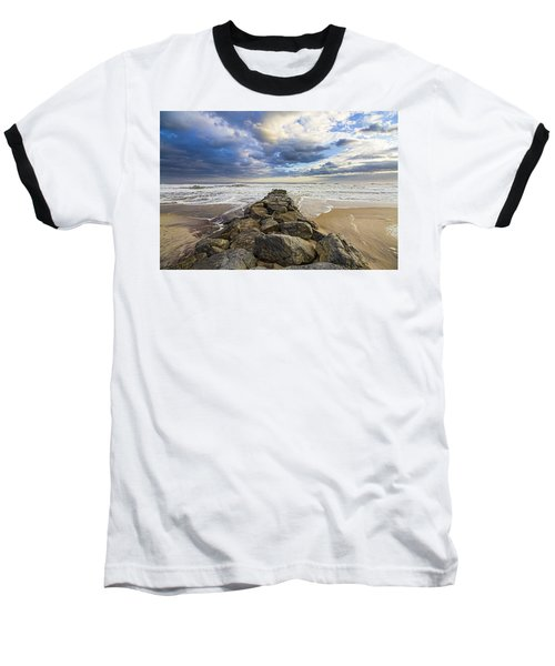 Jetty Four Cloudscape Baseball T-Shirt