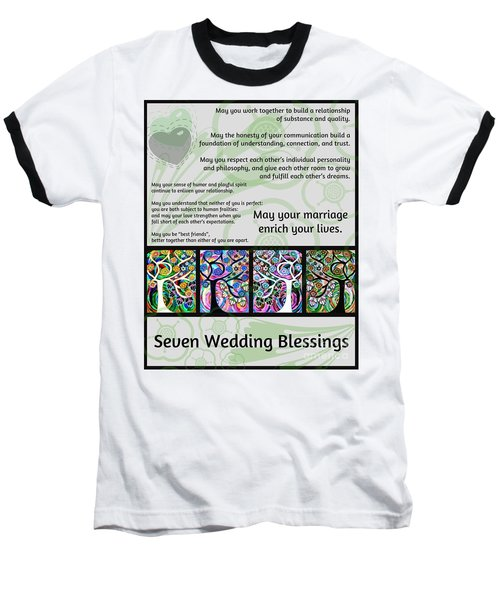 Jewish Seven Wedding Blessings Tree Of Life Hamsas Baseball T-Shirt