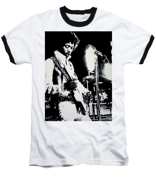 Jimmy Hendrix Purple Haze Baseball T-Shirt