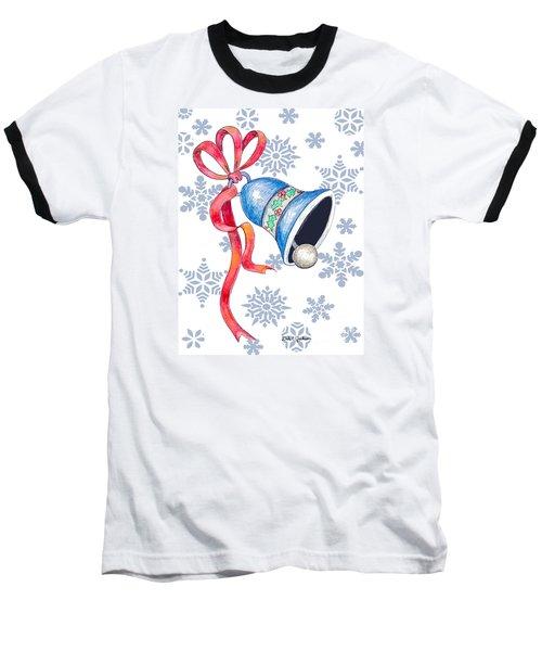 Jingle Bells And Snowflakes On Christmas Day Baseball T-Shirt