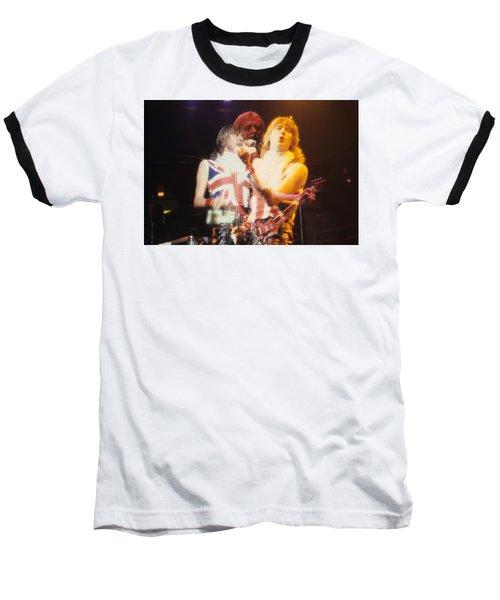 Joe And Phil Of Def Leppard Baseball T-Shirt by Rich Fuscia