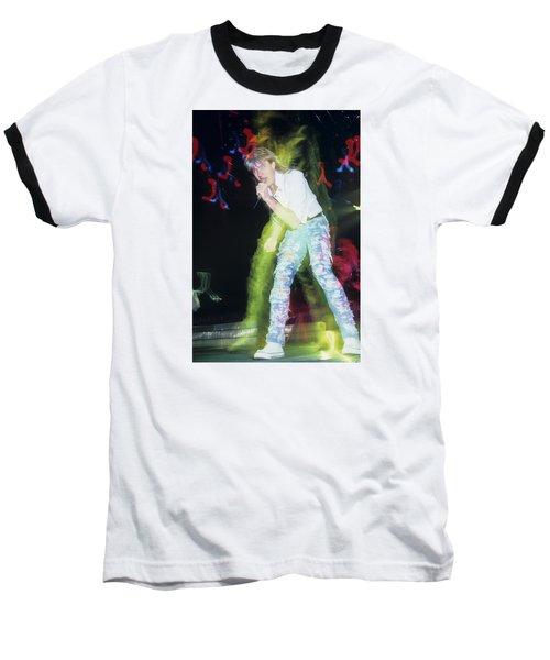 Joe Elliott Of Def Leppard Baseball T-Shirt by Rich Fuscia
