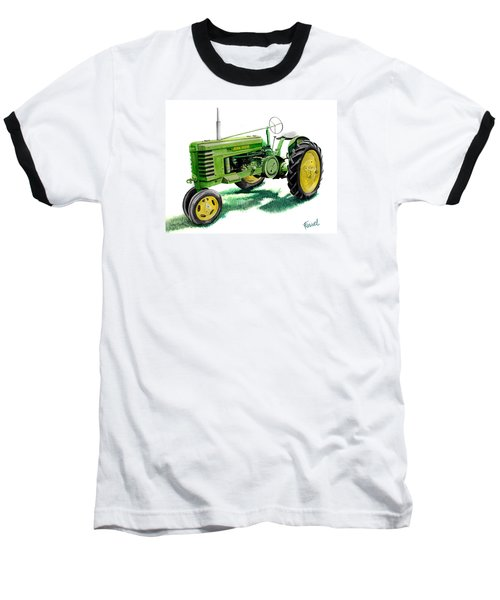 John Deere Tractor Baseball T-Shirt by Ferrel Cordle
