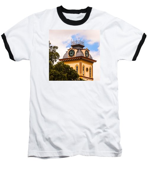 John W. Hargis Hall Clock Tower Baseball T-Shirt