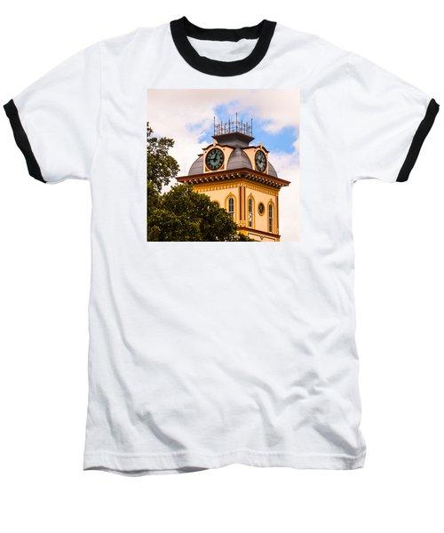 John W. Hargis Hall Clock Tower Baseball T-Shirt