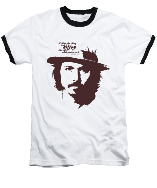 Johnny Depp Minimalist Poster Baseball T-Shirt