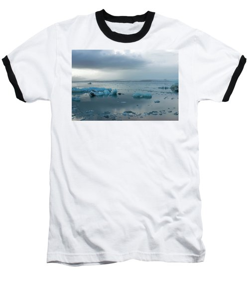 Baseball T-Shirt featuring the photograph Jokulsarlon, The Glacier Lagoon, Iceland 1 by Dubi Roman