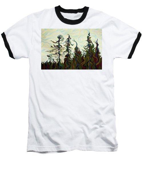 Joyful Pines, Whispering Lines Baseball T-Shirt