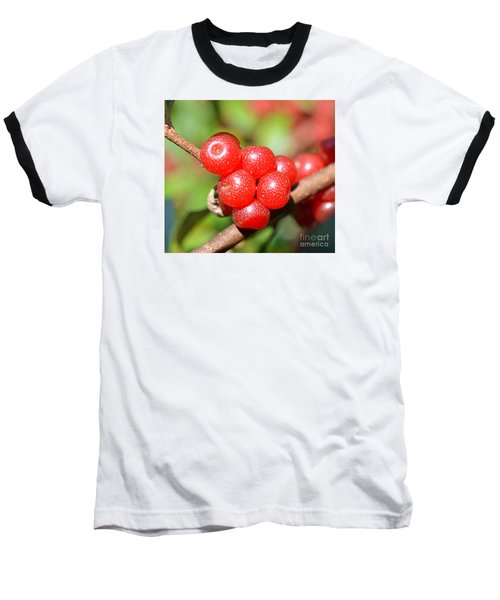 Juicy Red Baseball T-Shirt by Lew Davis