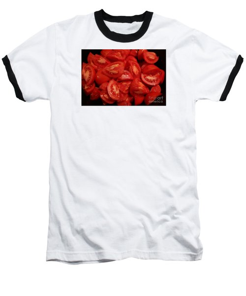 Baseball T-Shirt featuring the photograph Juicy Tomatoes by Jeanette French